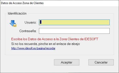 datos acceso IDESOFT